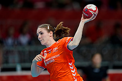 06-12-2019 JAP: Norway - Netherlands, Kumamoto<br /> Last match groep A at 24th IHF Women's Handball World Championship. / The Dutch handball players won in an exciting game of fear gegner Norway and wrote in the last group match at the World Handball  World Championship history (30-28). / Laura van der Heijden #6 of Netherlands