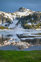 Eagle Cap reflected in Mirror Lake, Eagle Cap Wilderness Wallowa Mountains Oregon