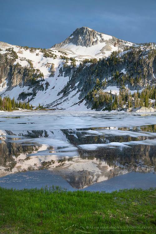 Eagle Cap reflected in Mirror Lake, Eagle Cap Wilderness Wallowa Mountains Oregon