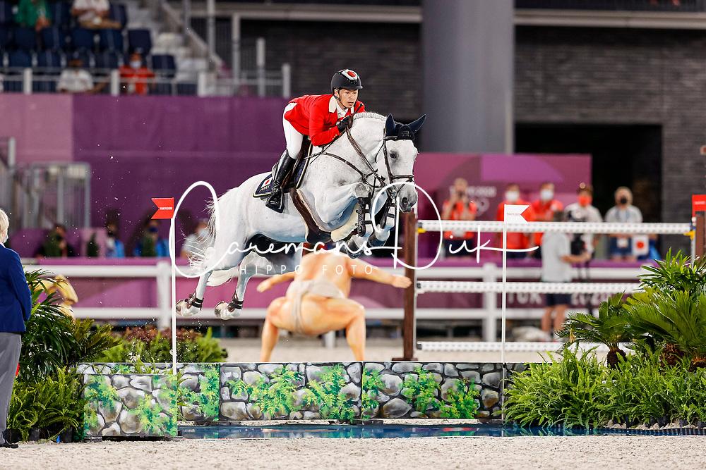 Sato Eiken, JPN, Saphyr Des Lacs, 360<br /> Olympic Games Tokyo 2021<br /> © Hippo Foto - Stefan Lafrentz<br /> 04/08/2021