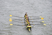 London, Great Britain.<br /> Hampton School II, competing at the <br /> 2016 Head of the River Race, Reverse Championship Course Mortlake to Putney. River Thames. Saturday  19/03/2016<br /> <br /> [Mandatory Credit: Peter SPURRIER;Intersport images]