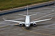 Israel, Ben-Gurion international Airport El-Al Boeing 737 passenger jet
