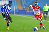 Moses Odubajo, Scott Malone during the EFL Sky Bet Championship match between Sheffield Wednesday and Millwall at Hillsborough, Sheffield, England on 7 November 2020.