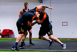 Chris Pennell and Jono Lance of Worcester Warriors during preseason training ahead of the 2019/20 Gallagher Premiership Rugby season - Mandatory by-line: Robbie Stephenson/JMP - 06/08/2019 - RUGBY - Sixways Stadium - Worcester, England - Worcester Warriors Preseason Training 2019