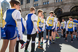 BAA Invitational Miles, Middle School Boys 1000 meter race, start