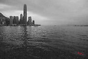Hong Kong Central Skyline in Pencil.