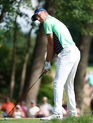 August 9, 2018 - St. Louis, Missouri, United States - Jordan Spieth tees off during the first round of the 100th PGA Championship at Bellerive Country Club. (Credit Image: © Debby Wong via ZUMA Wire)