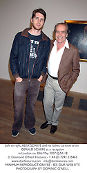 Left to right, ALEX SCARFE and his father, cartoon artist GERALD SCARFE at a reception in London on 30th May 2007.QZA 18<br /><br /><br />NON EXCLUSIVE - WORLD RIGHTS