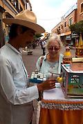 Fortune teller with bird, Tlaquepaque, Guadalajara, Jalisco, Mexico