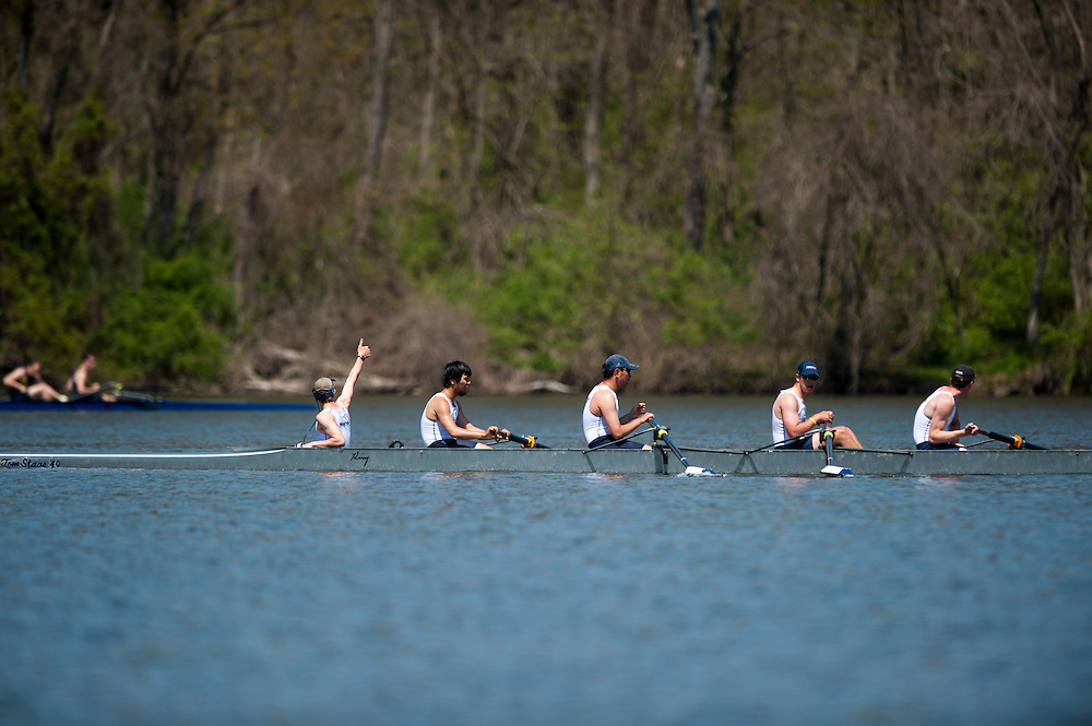 Photo by Matt Roth..Marietta College Rowing team competes during the Mid-Atlantic Rowing Conference Championship at Gifford Pinchot State Park in Lewisberry, Pennsylvania on Saturday, April 27, 2013. .