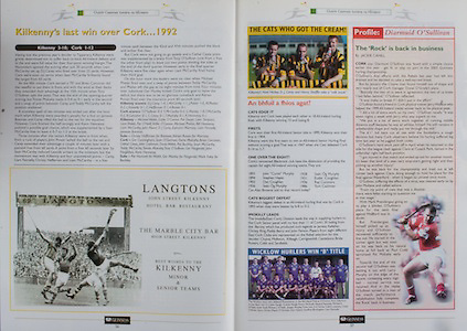All Ireland Senior Hurling Championship - Final,.14092003AISHCF,.14.09.2003, 09.14.2003, 9th September 2003,.Senior Kilkenny 1-14, Cork 1-11,.Minor Kilkenny 2-16, Galway 2-15,.Langtons,
