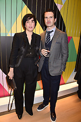 Sharleen Spiteri and Jimmy Carr at the Range Rover Velar Global Reveal at The Design Museum, London England. 1 March 2017.
