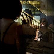 Self portrait in mirror at Lillesden Girl's School (abandoned)