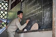 Schoolteacher in a village near Luang Namtha, Laos, Southeast Asia