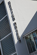 Sign for the Design Museum at Butlers Wharf, South East London.