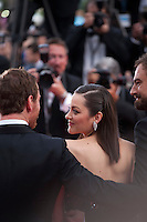 Actress Marion Cotillard with actor Michael Fassbender and Director Justin Kurzel, at the gala screening for the film Macbeth at the 68th Cannes Film Festival, Saturday 23rd May 2015, Cannes, France.