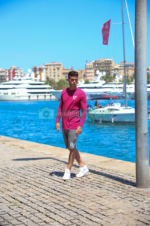 EXCLUSIVE: Gaz Beadle from Geordie Shore seen shooting a commercial for 11Degrees in Barcelona. 30 May 2018 Pictured: Gaz from Geordie Shore shooting commercial. Photo credit: MEGA TheMegaAgency.com +1 888 505 6342