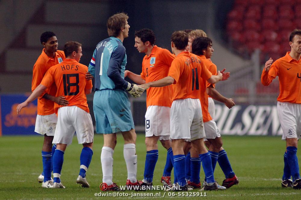 NLD/Amsterdam/20060301 - Voetbal, oefenwedstrijd Nederland - Ecuador,