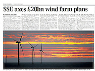 Sunrise over the Gwynt y Môr Offshore Wind Farm off the coast of North Wales