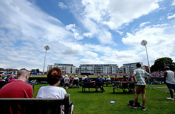 A big crowd at Bristol's County Ground watch England Women v Australia Women in the ICC Women's World Cup - Mandatory by-line: Robbie Stephenson/JMP - 09/07/2017 - CRICKET - Bristol County Ground - Bristol, United Kingdom - England v Australia - ICC Women's World Cup match 19