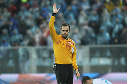 27.11.2014, Stadium Kantrida, Rijeka, CRO, UEFA EL, HNK Rijeka vs FC Standard Liege, Gruppe G, im Bild Referee Stephan Studer // during the UEFA Europa Lduring the UEFA Europa League group G match between HNK Rijeka and FC Standard Liege at the Stadium Kantrida in Rijeka, Croatia on 2014/11/27. EXPA Pictures © 2014, PhotoCredit: EXPA/ Pixsell/ Nel Pavletic<br /> <br /> *****ATTENTION - for AUT, SLO, SUI, SWE, ITA, FRA only*****