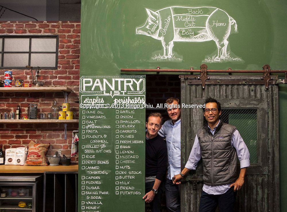 From left, Steve Kydd, Larry Fitzgibbon and Joe Perez, co-founders of Tastemade, a YouTube network dedicated to food. (Photo by Ringo Chiu/PHOTOFORMULA.com)