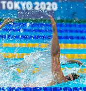 TOKYO, JAPAN - JULY 25: Kira Toussaint of Netherlands <br /> competing in the women 100m Backstroke during the Tokyo 2020 Olympic Games at the Tokyo Aquatics Centre on July 25, 2021 in Tokyo, Japan (Photo by Giorgio Scala/Deepbluemedia/Insidefoto)