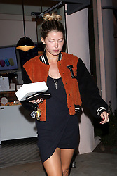 EXCLUSIVE: Justin Bieber's girlfriend Baskin Champion picks up some macaroons after spending the afternoon with her new boyfriend. Baskin showed off her make up free beauty sporting a black dress and trainers. 26 Mar 2018 Pictured: Baskin Champion. Photo credit: Rachpoot/MEGA TheMegaAgency.com +1 888 505 6342