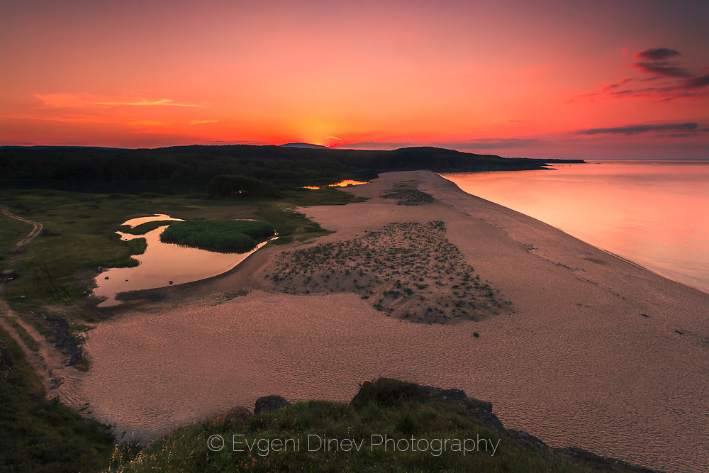 Natural dune in the shape of heart