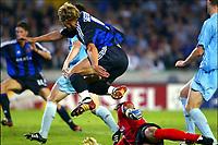 Fotball<br /> UEFA Champions League<br /> 16.09.2003<br /> Brugge / Brügge v Celta Vigo<br /> Bengt Sæternes utliknet til 1-1 for hjemmelaget<br /> NORWAY ONLY<br /> Foto: Digitalsport
