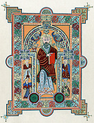 St Matthew from the 'Book of Kells', Latin manuscript of the Gospels produced in Ireland c800. As well as being a religious text, it is one of the greatest examples of Celtic art.