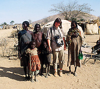 Jayne Fincher British photographer seen on assignment in Sudan, Africa in 1984.