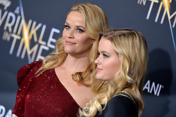 Reese Witherspoon and daughter Ava Phillippe attend the premiere of Disney's 'A Wrinkle In Time' at the El Capitan Theatre on February 26, 2018 in Los Angeles, California. Photo by Lionel Hahn/AbacaPress.com