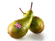 Fresh British conference pears whole