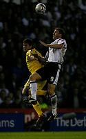 Photo: Steve Bond.<br />Derby County v Southampton. Coca Cola Championship. Play Off Semi Final, 2nd Leg. 15/05/2007. Steve Howard (R) challanges