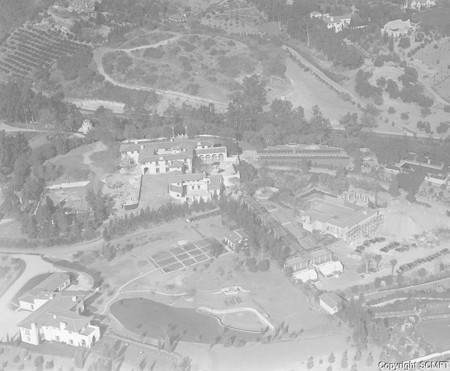 1928 Aerial view of Harold Lloyd's home