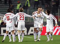 "Fotball<br /> Italia<br /> Foto: inside/Digitalsport<br /> NORWAY ONLY<br /> <br /> Alberto Gilardino celebrates after scoring goal with teammates Marek Jankulovski, Massimo Ambrosini, Simone Barone and Andrea Pirlo<br /> <br /> Italy ""Tim Cup"" 2006-2007<br /> 31 Jan 2007 (Semifinal 2nd leg)<br /> Roma v Milan (3-1)"