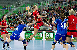 Barbara Varlec of Krim  during handball match between RK Krim Mercator (SLO) and RK Podravka Vegeta (CRO) in Women's EHF Champions League, on November 13, 2010 in Arena Stozice, Ljubljana, Slovenia. (Photo By Vid Ponikvar / Sportida.com)
