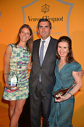 Left to right, EMILY BROOKE winner of the Veuve Clicquot New Generation Award, JEAN-MARC GALLOT and KATHERINE GARRETT-COX winner of the Veuve Clicquot Business Woman of The Year at the Veuve Clicquot Business Woman Awards held at Claridge's, Brook Street, London on 11th May 2015.
