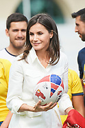 070419 Queen Letizia assists to the training of the 'National Women's Rugby Team 7'