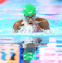 HANGZHOU, Dec. 12, 2018  Alia Atkinson of Jamaica competes during Women's 50m Breaststroke Final at 14th FINA World Swimming Championships (25m) in Hangzhou, east China's Zhejiang Province, on Dec. 12, 2018. Alia Atkinson claimed the title with 29.05 seconds. (Credit Image: © Xinhua via ZUMA Wire)