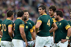 Eben Etzebeth of South Africa looks on - Mandatory byline: Patrick Khachfe/JMP - 07966 386802 - 07/10/2015 - RUGBY UNION - The Stadium, Queen Elizabeth Olympic Park - London, England - South Africa v USA - Rugby World Cup 2015 Pool B.
