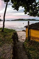 Praia do Ribeirão da Ilha com maré baixa. Florianópolis, Santa Catarina, Brasil. / Ribeirao da Ilha Beach at low tide. Florianopolis, Santa Catarina, Brazil.
