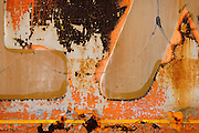 Man made objects weathering and deteriorating in the weather. Artistic images of abstract objects and close-ups. Industrial Grunge