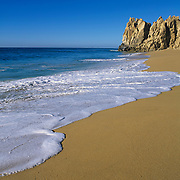 Rock formation at lands end in Cabo San Lucas. Baja California Sur, Mexico.