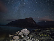 Stars in the night sky over the Eagle's Nest Mountain in Killarney National park las night on one of the warmest evening on record for The Kingdom. Photo taken on All Souls night November 2nd 2015.<br /> Photo: Don MacMonagle <br /> e: info@macmonagle.com