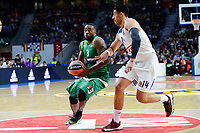 Real Madrid's player Gustavo Ayon and Panathinaikos's player K.C. Rivers during match of Turkish Airlines Euroleague at Barclaycard Center in Madrid. November 16, Spain. 2016. (ALTERPHOTOS/BorjaB.Hojas)
