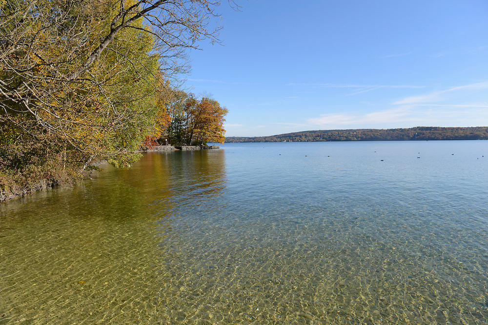 View of Starnberger Lake in autumn, Bavaria, Germany
