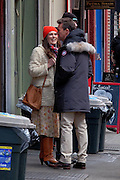 March 4, 2016 - New York City, NY, USA - <br /> Actors Keira Knightley and Ed Norton were on the set of the new movie 'Collateral Beauty' on March 4 2016 in New York City<br /> ©Exclusivepix Media