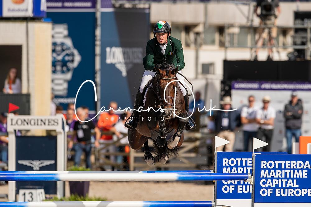 Kenny Darragh, IRL, Balou du Reventon<br /> European Championship Jumping<br /> Rotterdam 2019<br /> © Dirk Caremans<br /> Kenny Darragh, IRL, Balou du Reventon